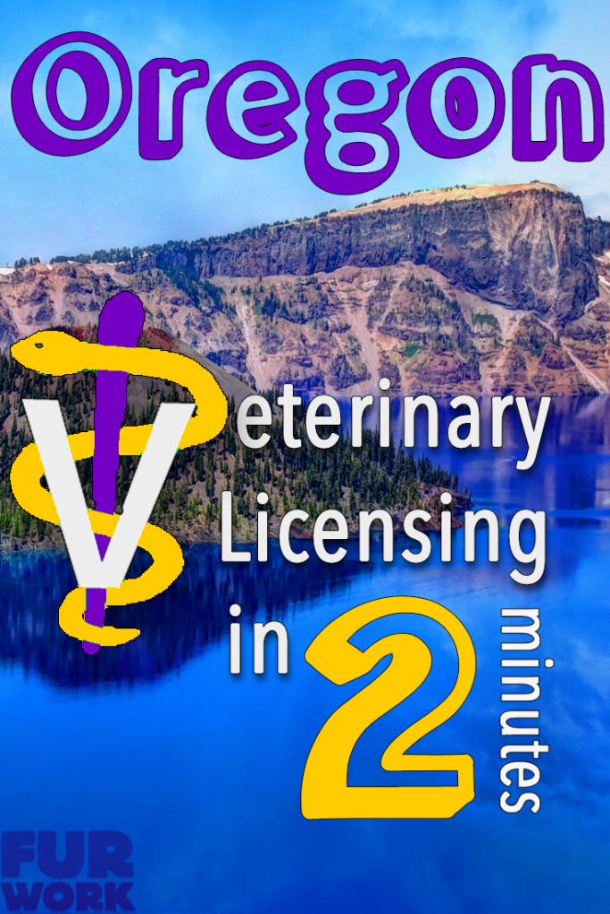 Oregon Veterinary Licensing 2 minutes vet staff symbol, lake scenery pinterest