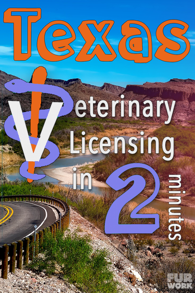 Texas Veterinary Licensing 2 minutes vet staff symbol, highway scenery pinteres