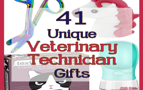 41 Unique Veterinary Technician gifts. Present ideas vet techs, scissors, game, dog water bottle usb square image