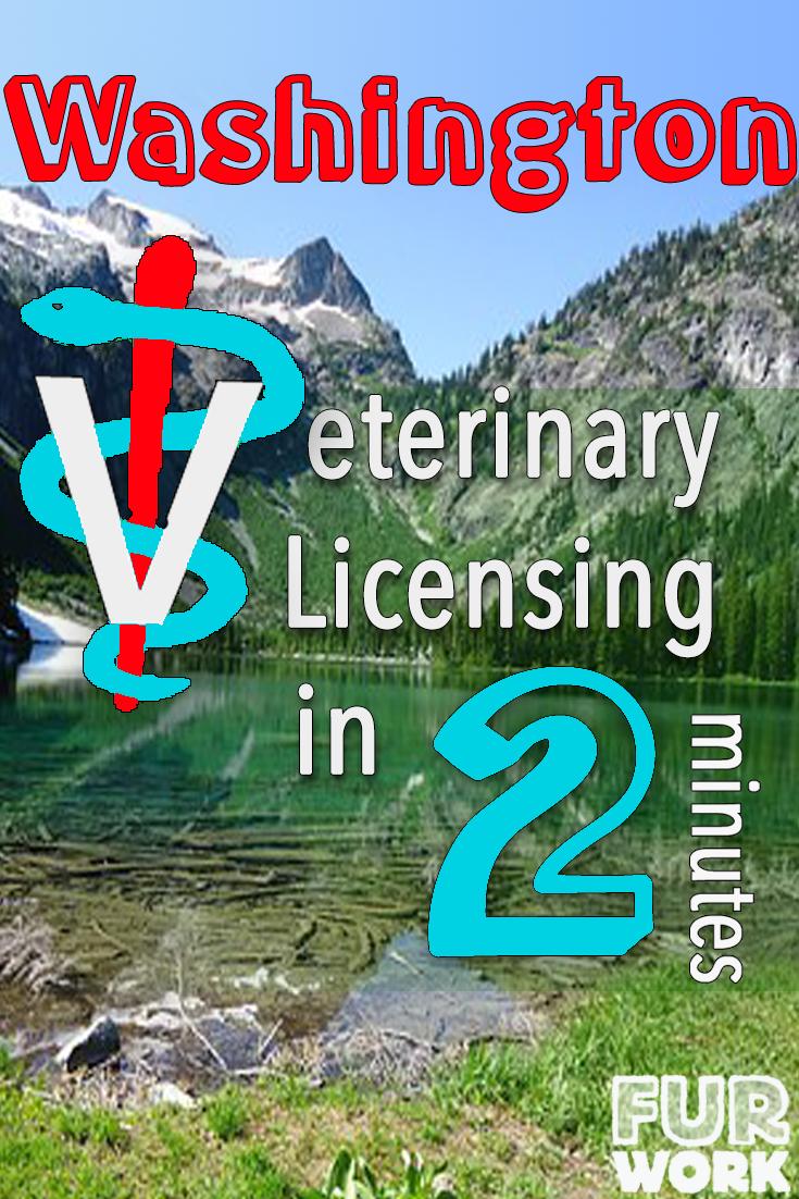 Washington State Veterinarian Licensing 2 minutes vet staff symbol, wa state park